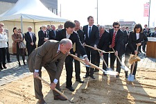 The ground-breaking ceremony on 15 April 2011