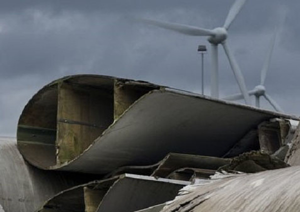Recycling of rotor blades from wind turbines